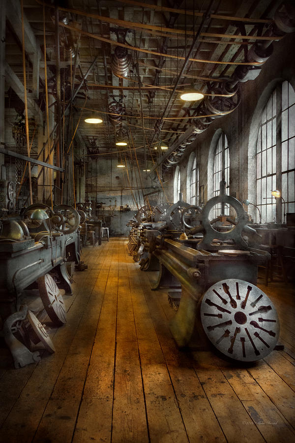 Machinist Photograph - Machinist - Lathes - The original Lather Disc  by Mike Savad
