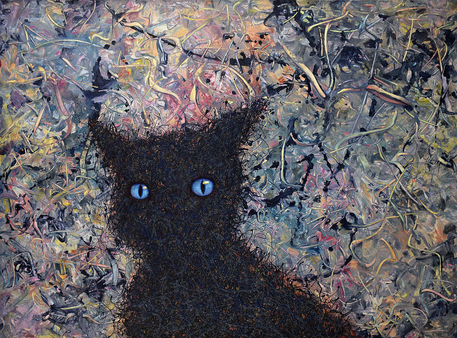 Cat Painting - Machka Memory by James W Johnson