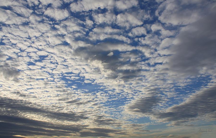 Altocumulus Clouds Photograph - Mackerel Sky Natural by Amanda Holmes Tzafrir