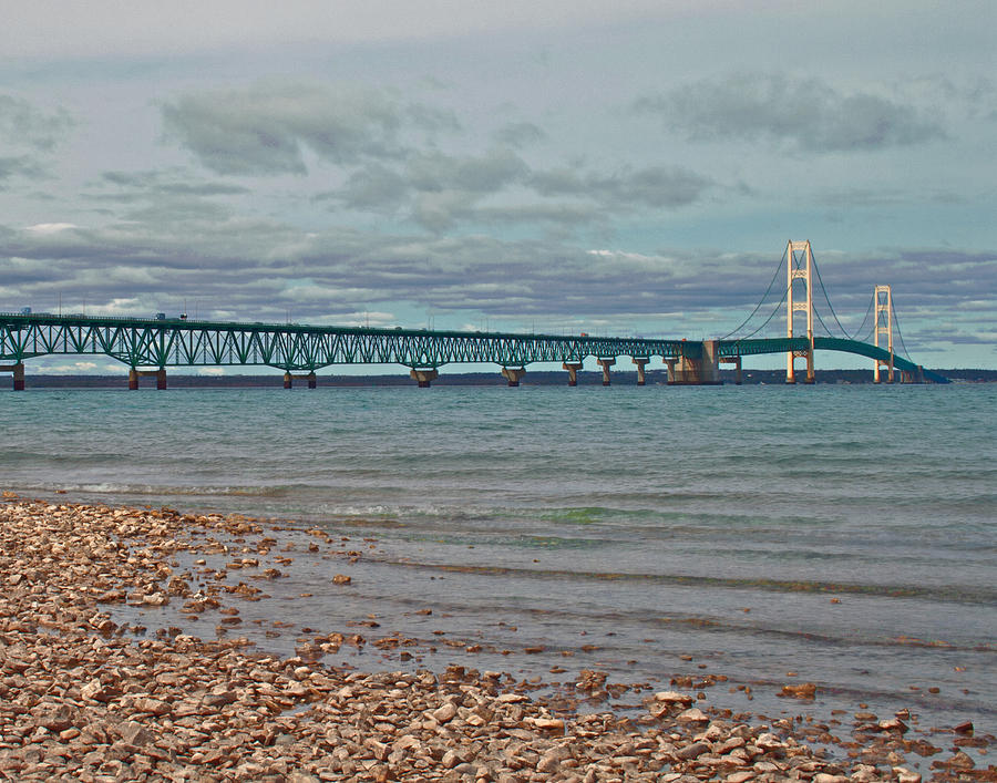 Mackinac Photograph - Mackinac Bridge by Brady D Hebert