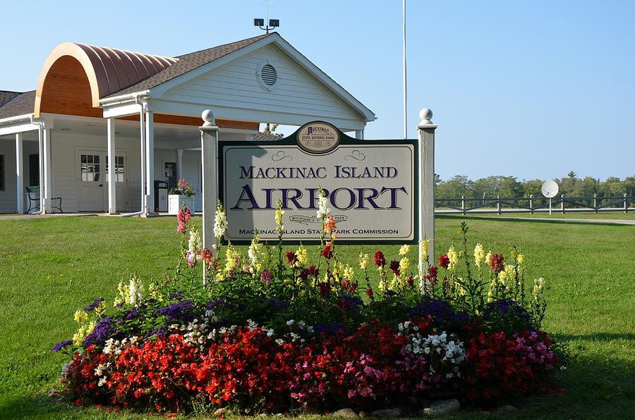 Aviation Photograph - Mackinac Island Airport by Brett Geyer