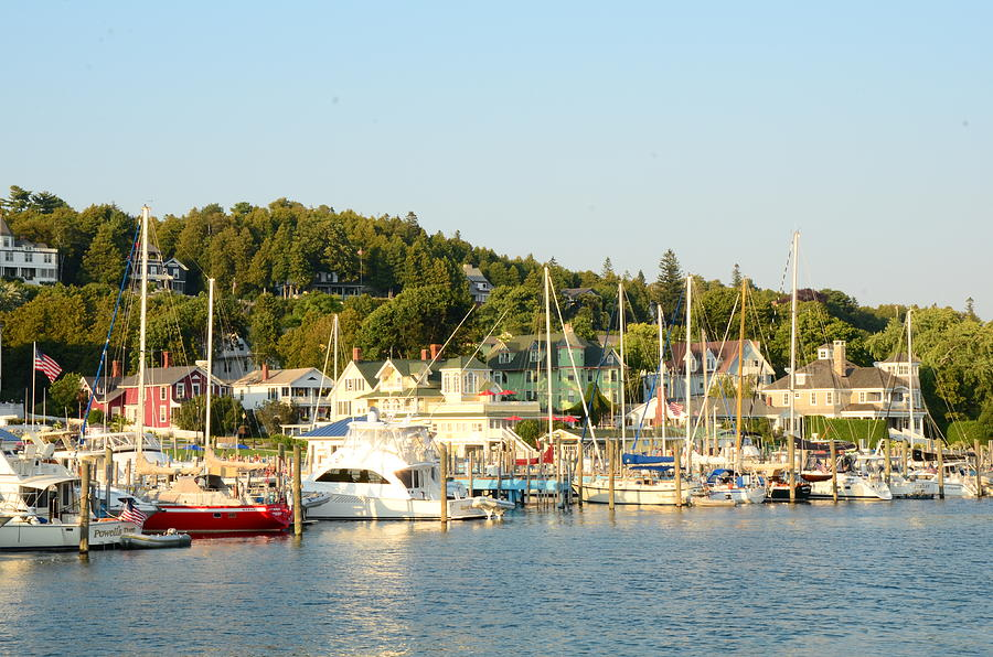 Boats Photograph - Mackinac Island by Brett Geyer