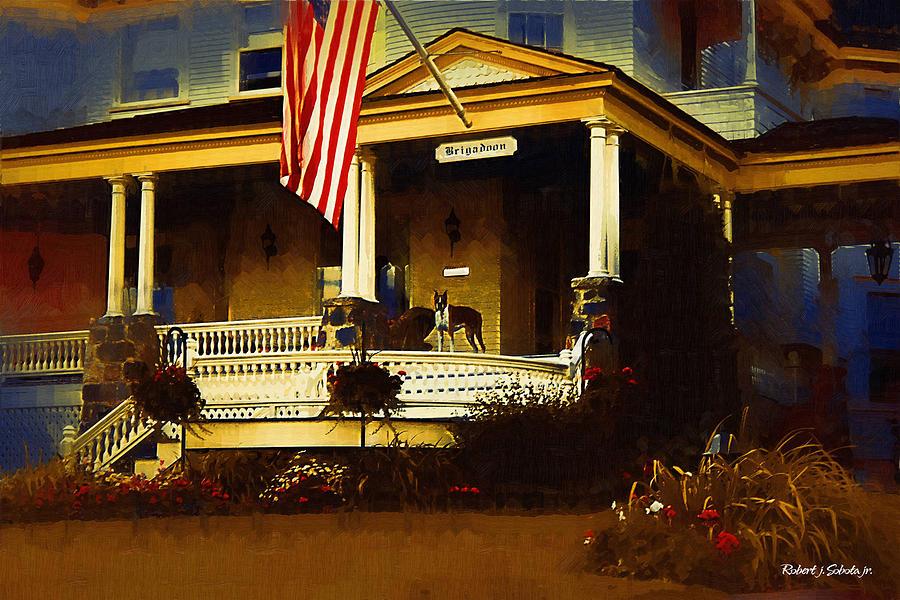 Mackinac Painting - Mackinac Island Home 3 by Robert Sobota