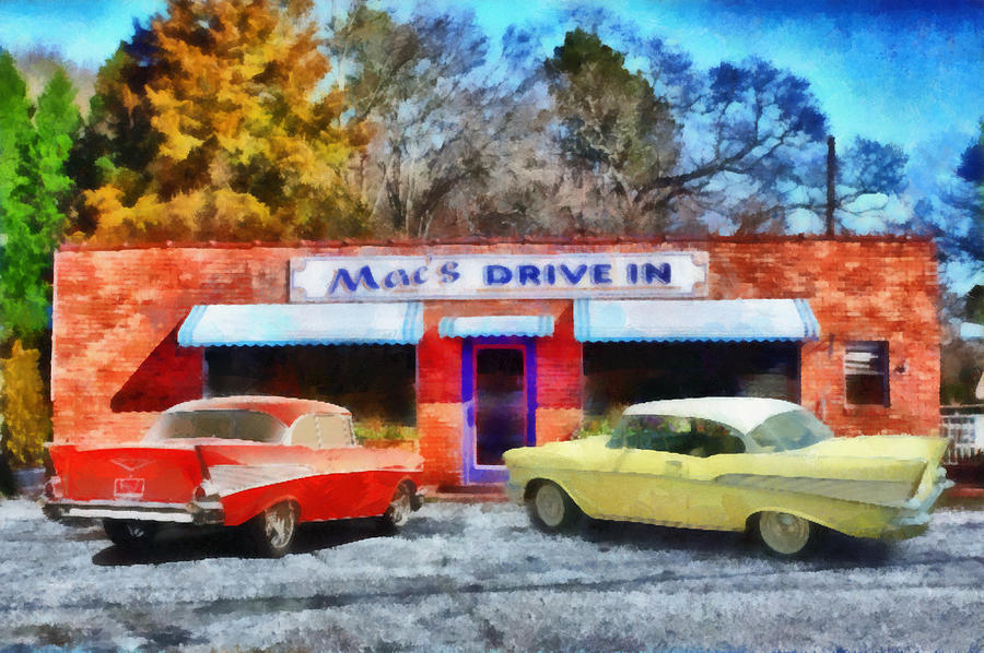 Clemson Painting - Macs Drive In by Lynne Jenkins