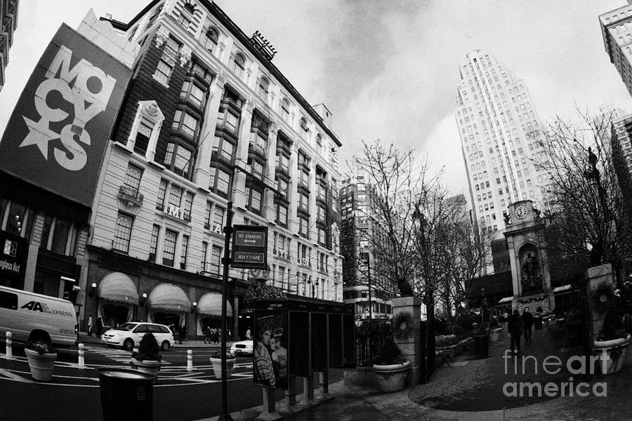 Usa Photograph - Macys At Broadway And 34th Street Herald Square New York City by Joe Fox