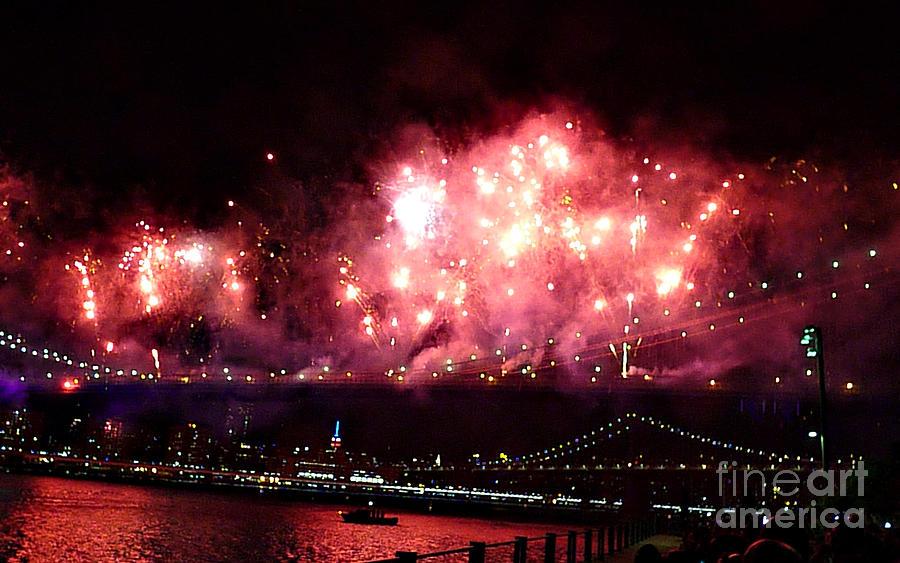 Fireworks Photograph - Macys Spectactual 2014 Fireworks by Kendall Eutemey