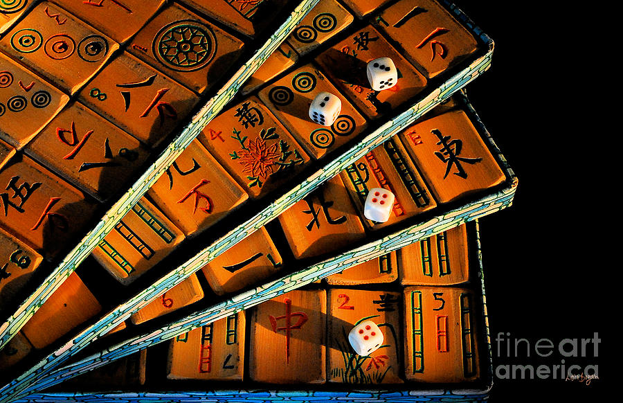 Still Life Photograph - Mad For Mahjong by Lois Bryan