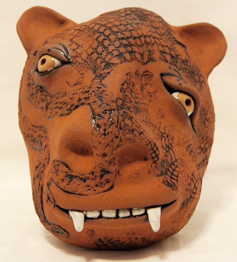 Mask Ceramic Art - Mad For You Cow by Susan Perry