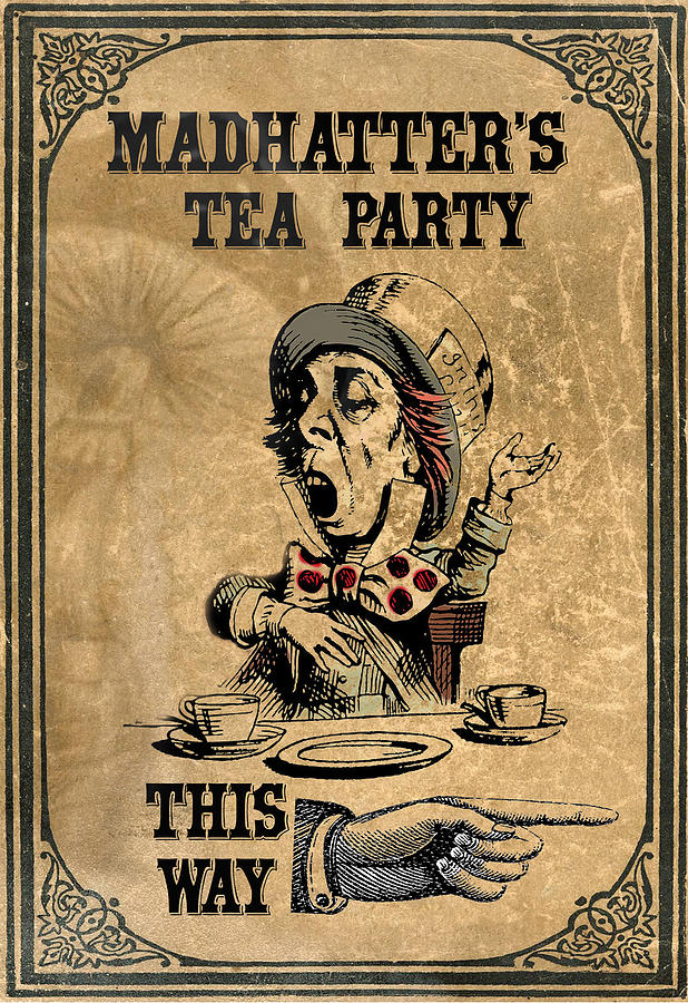 Mad Hatter Digital Art - Mad Hatters Tea Party by Greg Sharpe