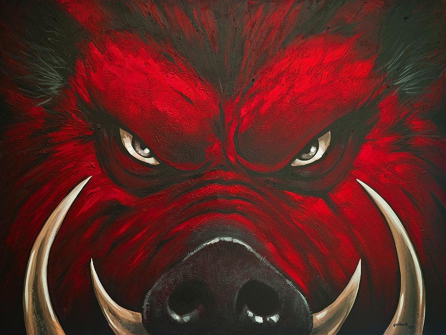 Hog Painting - Mad Hog by Glenn Pollard