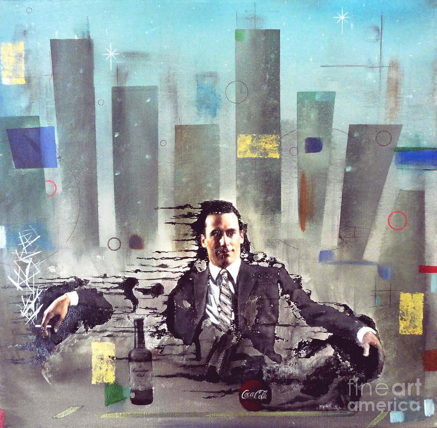 Mad Men Painting - Mad Men Disintegration Of Don Draper by John Lyes