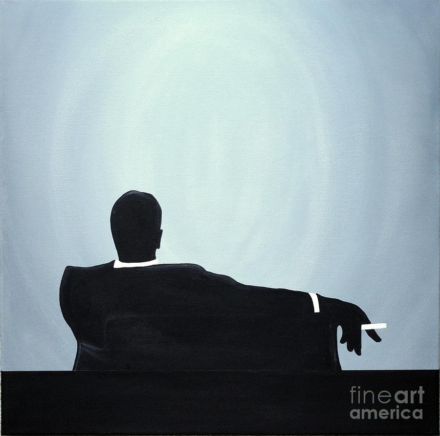 Sex Painting - Mad Men In Silhouette #2 by John Lyes