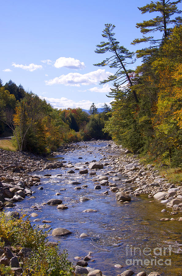 Fall In New Hampshire Photograph - Mad River by Michael Mooney