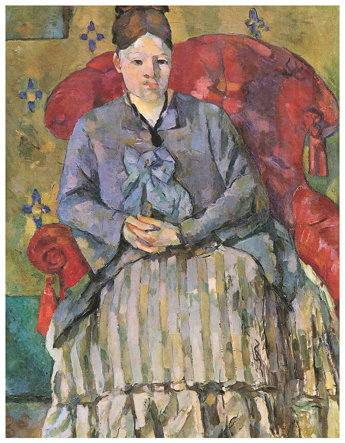 Madame Cezanne In A Red Armchair Painting By Paul Cezanne