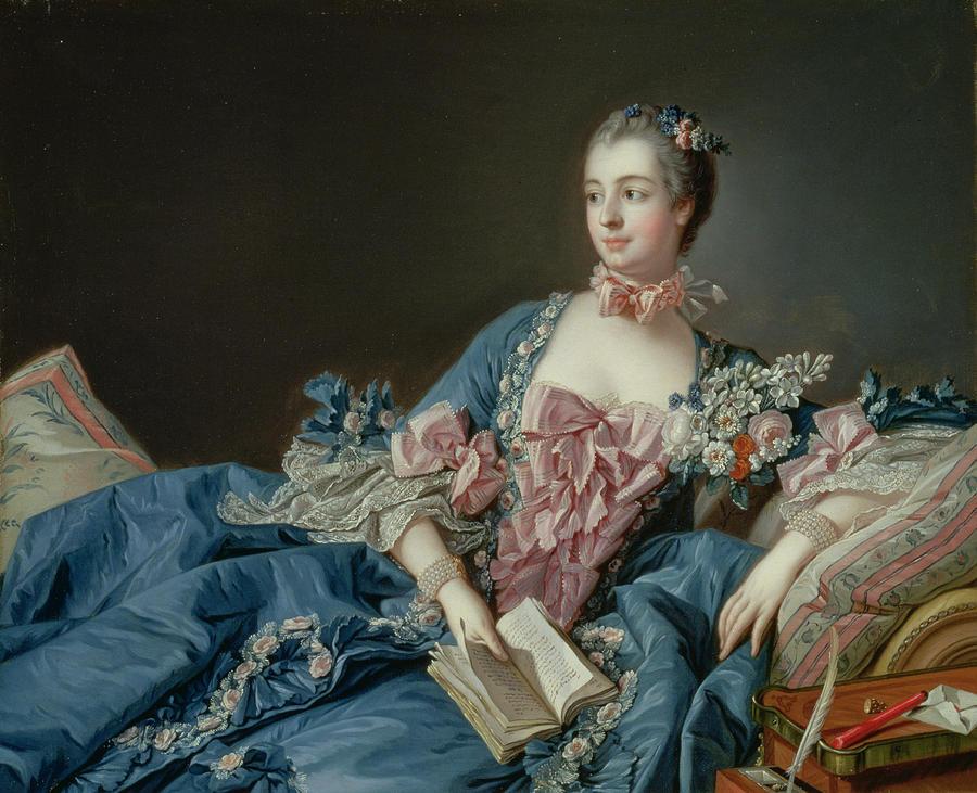 Madame De Pompadour Painting - Madame De Pompadour 5 by Francois Boucher