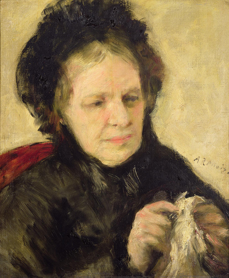 Female Painting - Madame Theodore Charpentier by Pierre Auguste Renoir