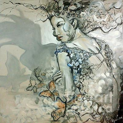 Woman Painting - Madamme Butterfly by David Figielek