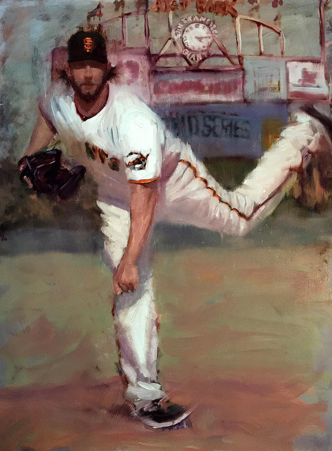 Madison Bumgarner Painting - Madbum World Series Mvp by Darren Kerr