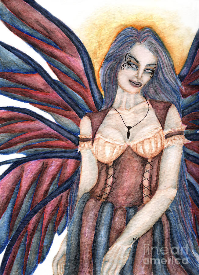 Medieval Painting - Madeleine   Something Mysterious And Strange II by Coriander  Shea