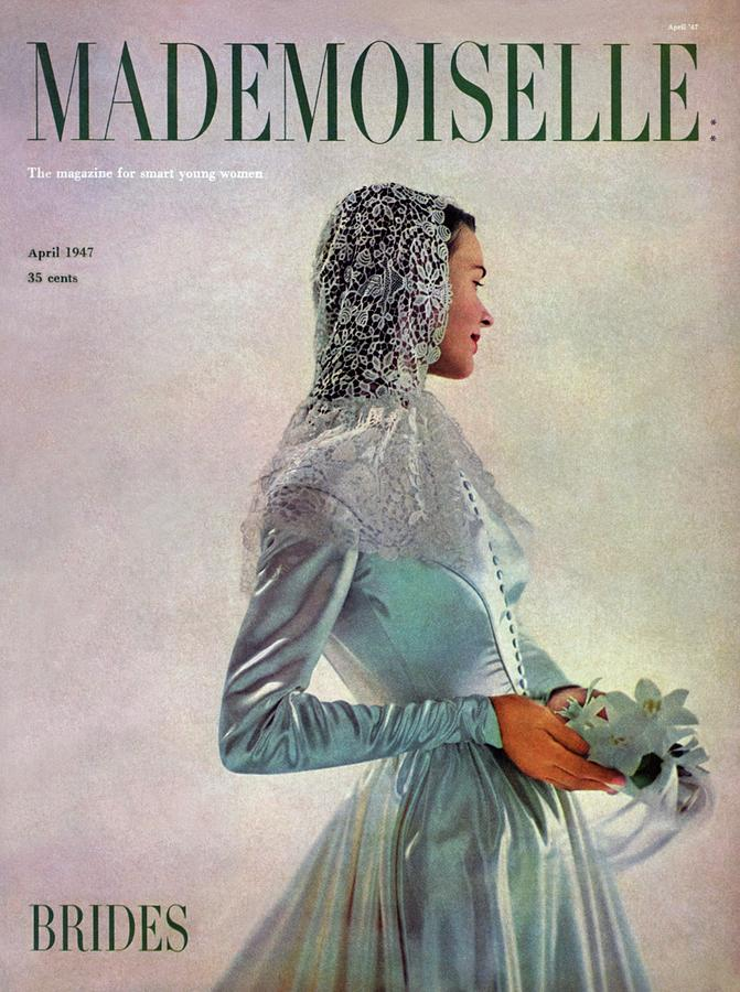 Mademoiselle Cover Featuring A Bride Photograph by Gene Fenn