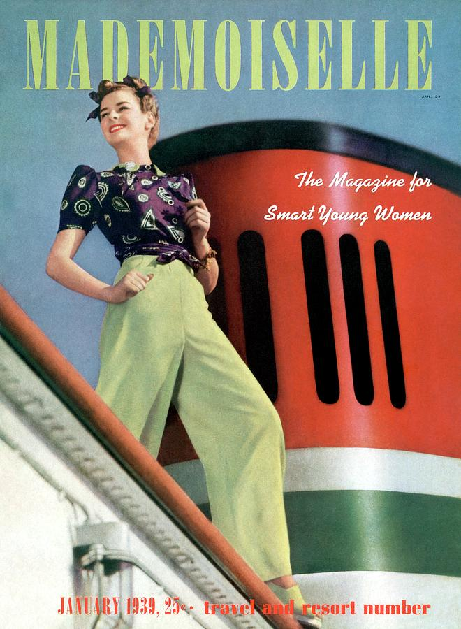 Mademoiselle Cover Featuring A Model Aboard Photograph by Paul DOme