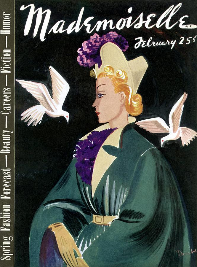 Mademoiselle Cover Featuring A Model In A Green Photograph by Elizabeth Dauber