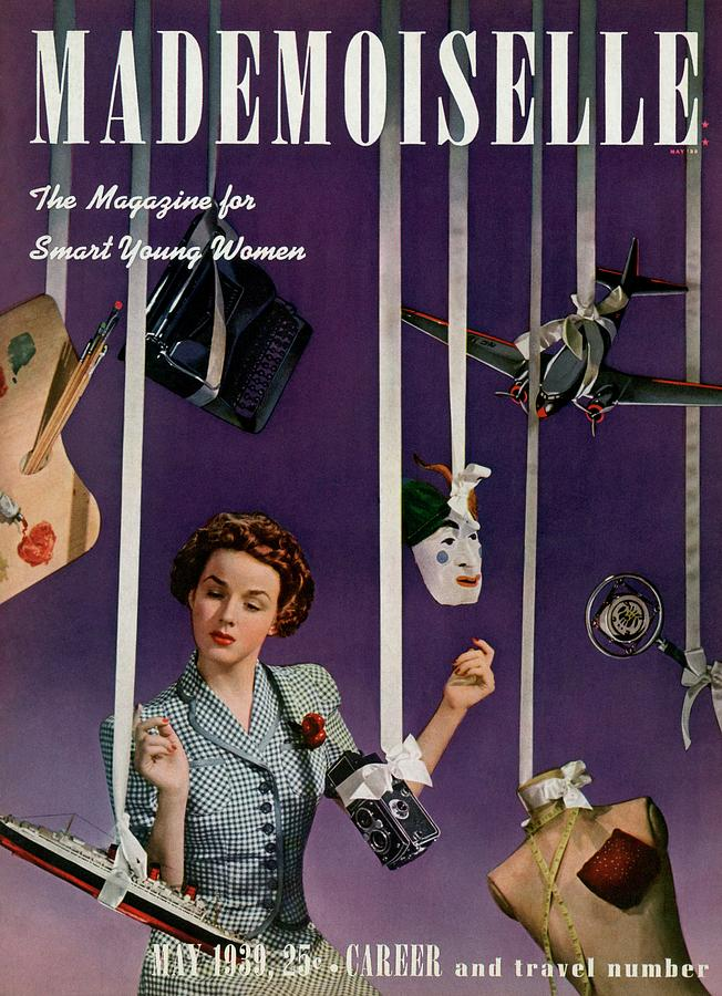 Mademoiselle Cover Featuring A Model Photograph by Paul DOme