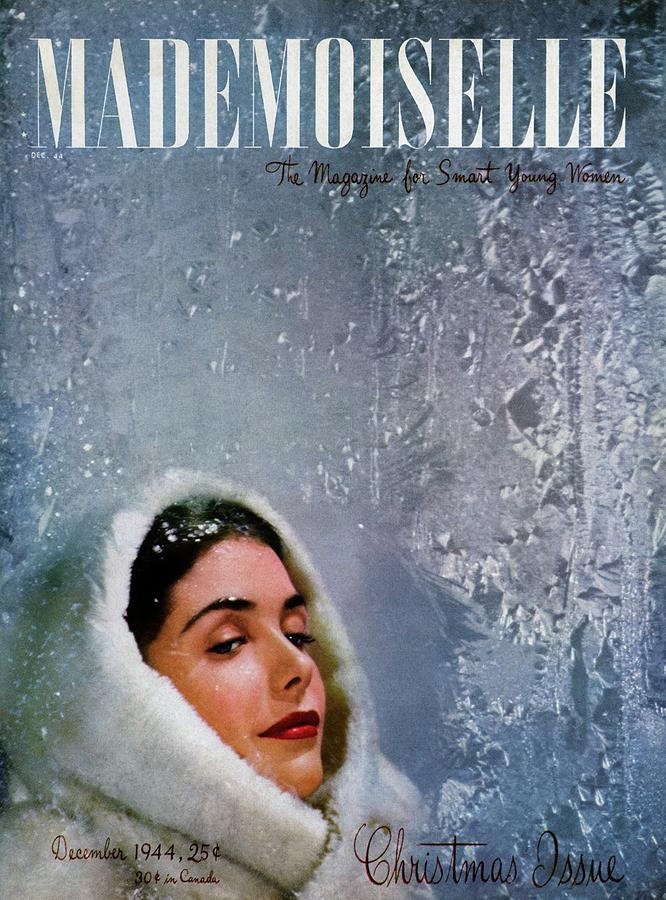 Mademoiselle Cover Featuring A Model Wearing Photograph by James Abbe Jr