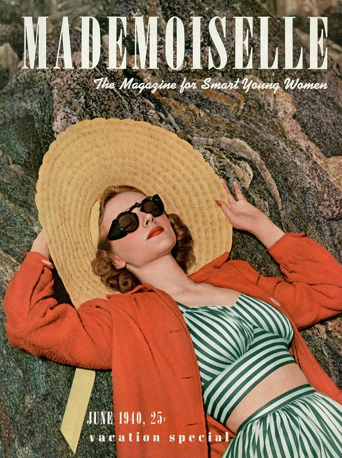 Mademoiselle Cover Featuring A Model Wearing Photograph by Paul DOme