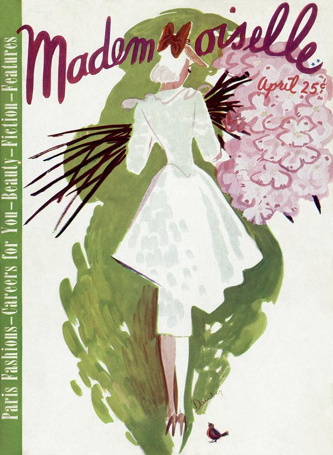 Mademoiselle Cover Featuring A Woman Carrying Photograph by Elizabeth Dauber