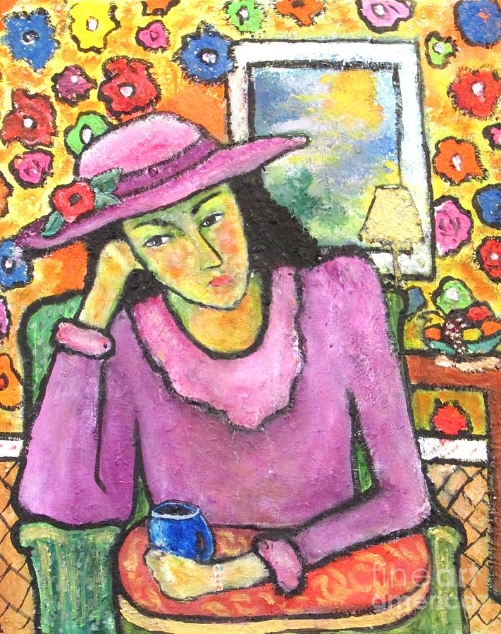 Portrait Painting - Mademoiselle Espame by Chaline Ouellet