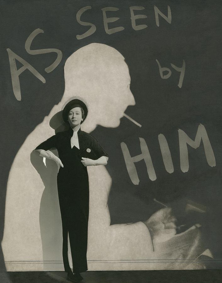 Mademoiselle Koopman Wearing A John Mcmullin Photograph by George Hoyningen-Huene