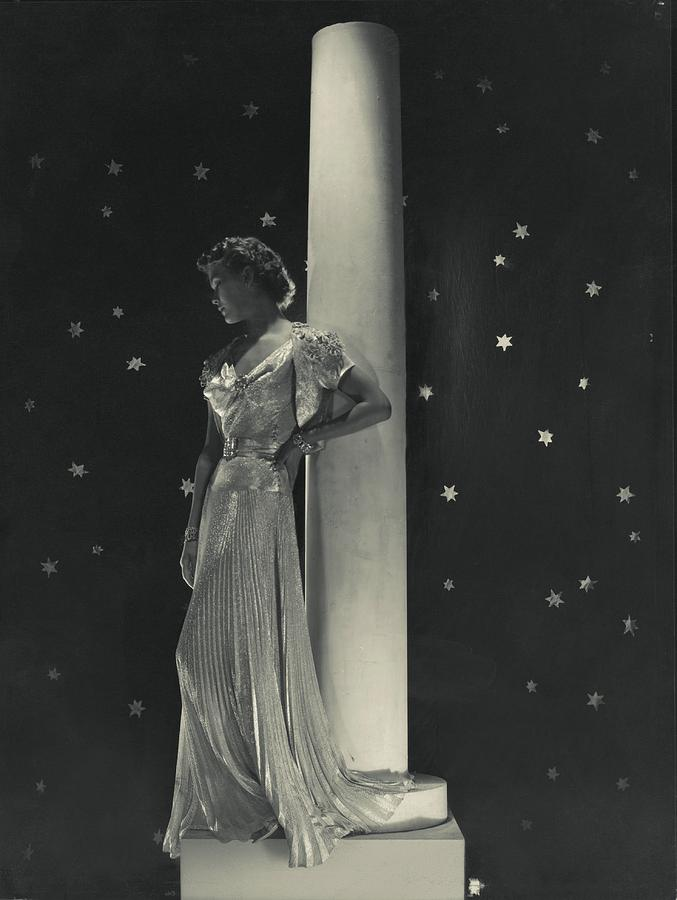 Mademoiselle Lind Wearing A Mainbocher Dress Photograph by Horst P. Horst