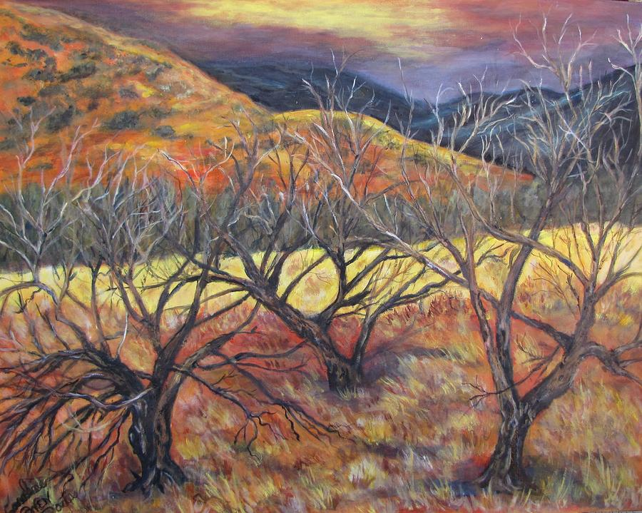 Grasslands Painting - Madera Canyon 2 by Caroline Owen-Doar