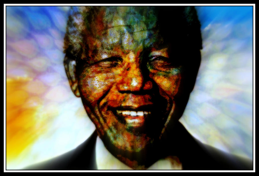 World Leaders Mixed Media - Madiba Father Of Peace And Forgiveness by Wendie Busig-Kohn