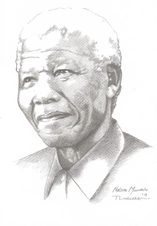 Madiba Drawing by Tammy Lindecke