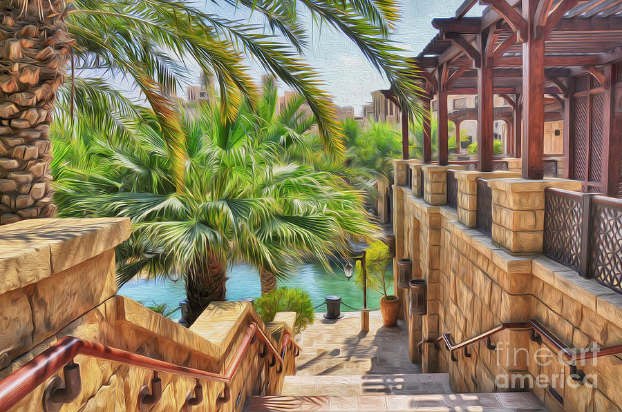 Souk Photograph - Madinat Jumeirah Souk - Dubai by George Paris