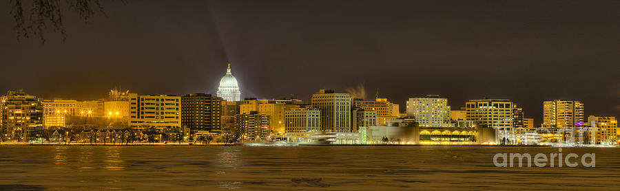 Madison - Wisconsin City  panorama - no fireworks Photograph by Steven Ralser