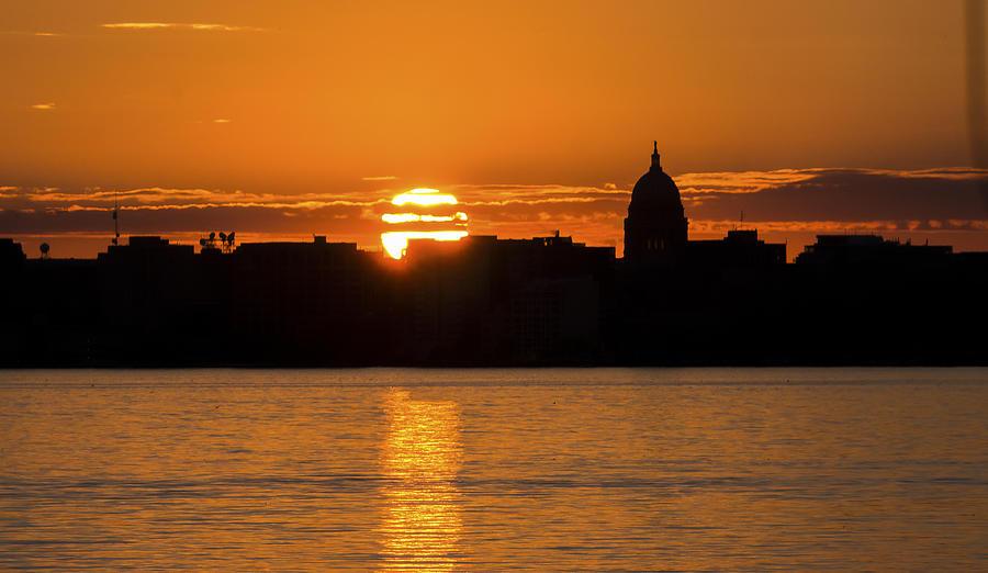 Madison Sunset Photograph by Steven Ralser