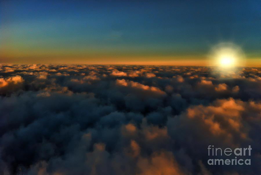 Sunset Photograph - Madison Wi Sunset At 30000 by Tommy Anderson