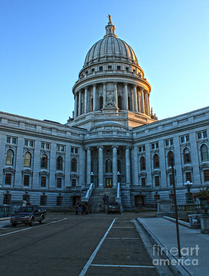 Madison Wisconsin Photograph - Madison Wisconsin Capitol Building - 01 by Gregory Dyer