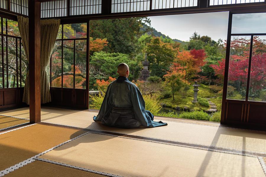 Japan Photograph - Ma??ditation by Marc Pelissier
