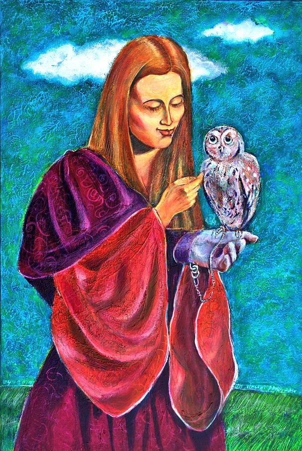 Madona With Owl Painting