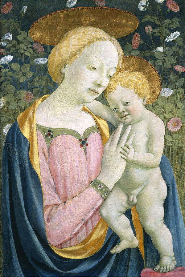 Renaissance Painting - Madonna And Child by Domenico Veneziano
