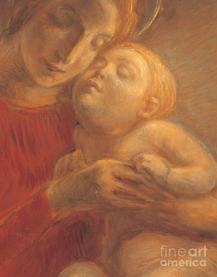 Madonna And Child Painting - Madonna And Child by Gaetano Previati