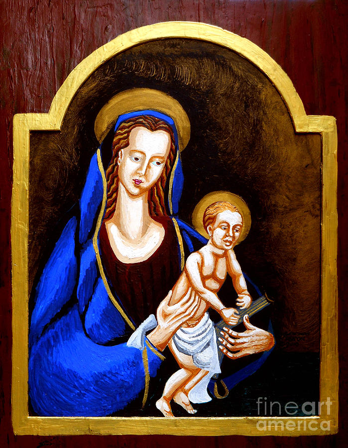 Madonna And Child Painting - Madonna And Child by Genevieve Esson