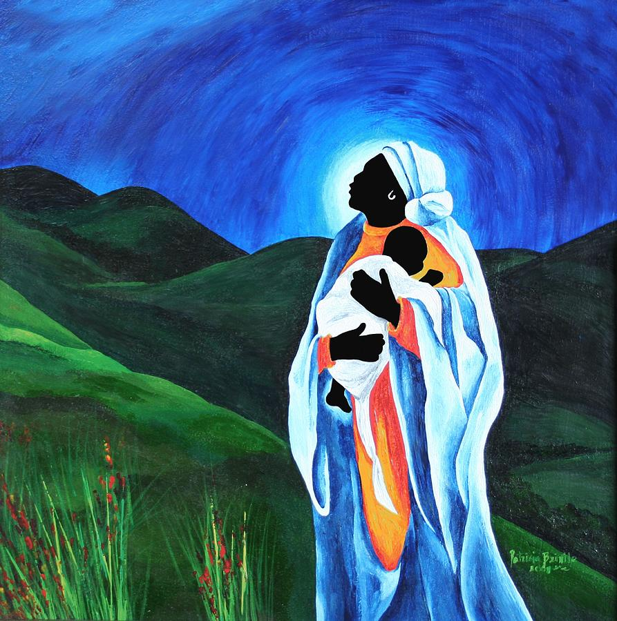 Female Painting - Madonna And Child  Hope For The World by Patricia Brintle