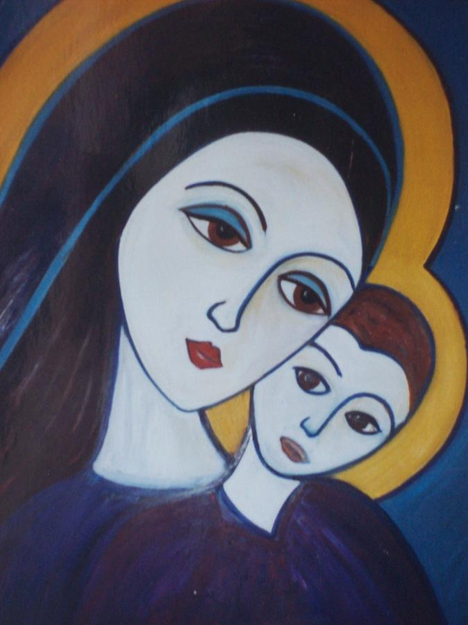 Madonna And Child Painting - Madonna And Child by Michael C Doyle