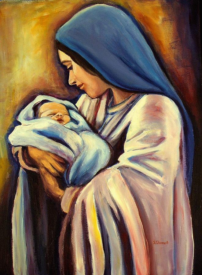 Madonna Painting - Madonna and Child by Sheila Diemert