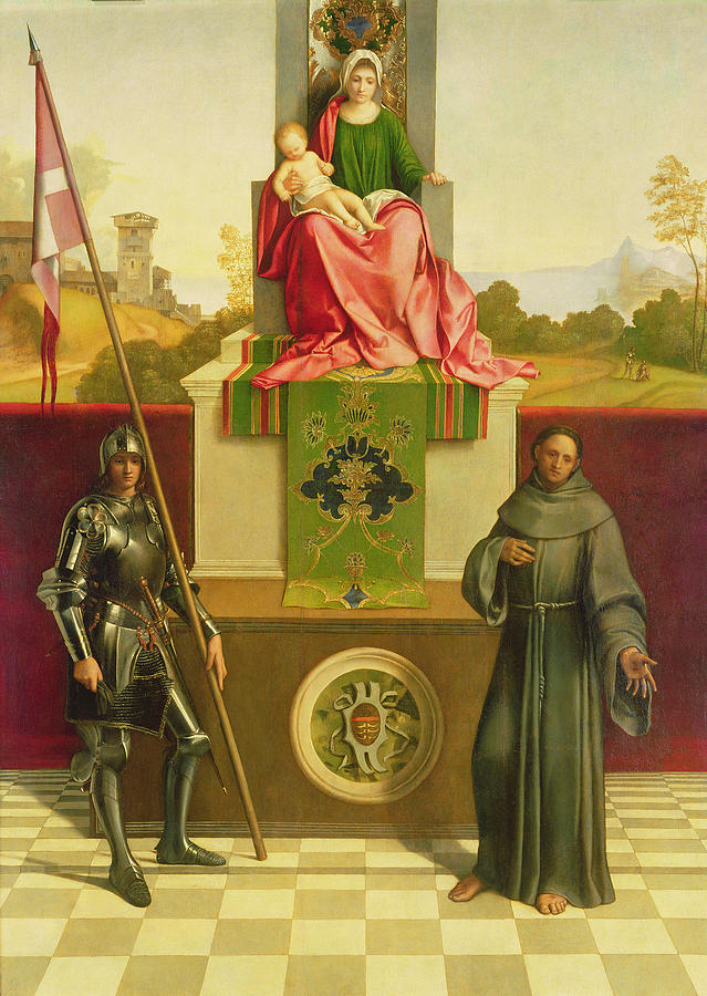 Virgin Mary Painting - Madonna And Child With Saints Liberale And Francis by Giorgione